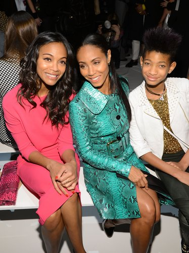 Zoe Saldana posed with Jada Pinkett Smith and Willow Smith at the Michael Kors show in NYC in February.