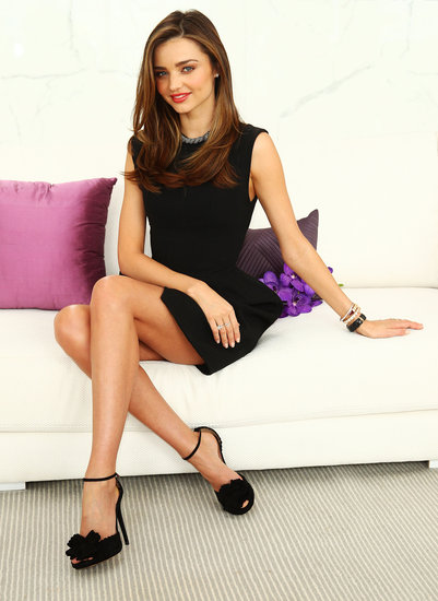 Miranda Kerr posed for a photo shoot while she promoted Clear Scalp & Hair Beauty Therapy.