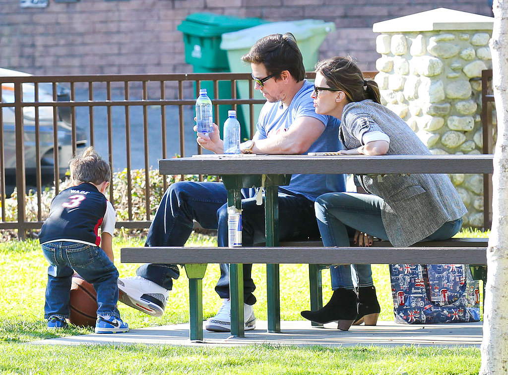 Mark Wahlberg and Rhea Durham took Brendan to an LA park.