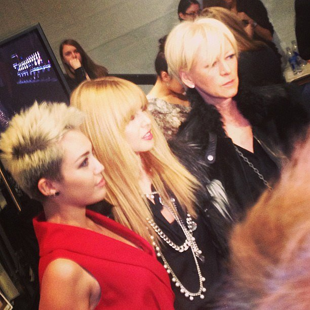 Rachel Zoe and Miley Cyrus met up at Fashion Week. Source: Instagram user thezoereport