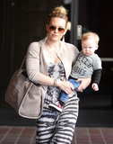 Hilary Duff took son Luca to Babies First Class in LA on Wednesday.
