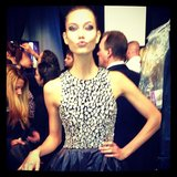 Karlie Kloss gave her followers a look backstage at Fashion Week. Source: Instagram user karliekloss