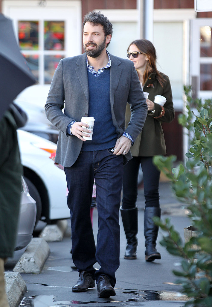 Ben Affleck and Jennifer Garner visited Brentwood Country Mart.