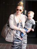 Hilary Duff wore aviator shades on Wednesday afternoon in LA.