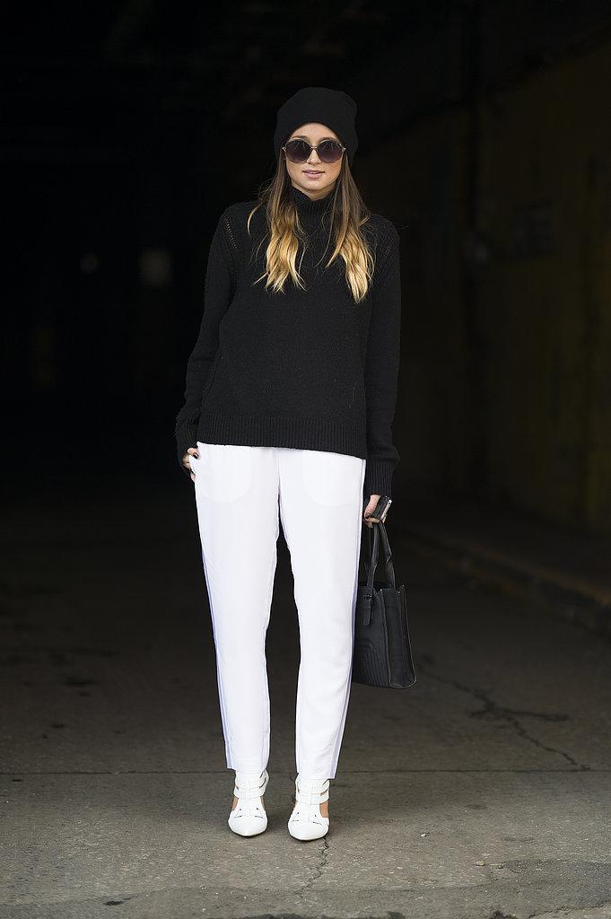 A sharp white and black contrast made these basic silhouettes much more attention-grabbing. Source: Le 21ème | Adam Katz Sinding