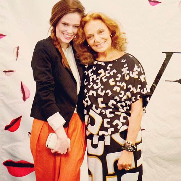 Coco Rocha posed with Diane von Furstenberg backstage at her Fall '13 show. Source: Instagram user cocorocha