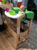 The latest addition to Little Partners's Learning Tower is a high-chair add-on — so smart!