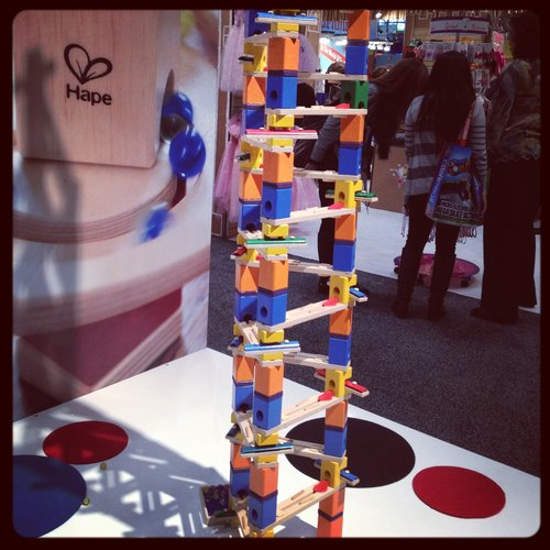 Hape's marble run can be used with or without bells to create magical sounds.