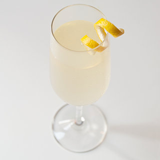 Pear and Elderflower Champagne Cocktail