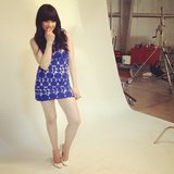 Carly Rae Jepsen shared a moment from her photo shoot for Burt's Bees. Source: Instagram user carlyraejepsen