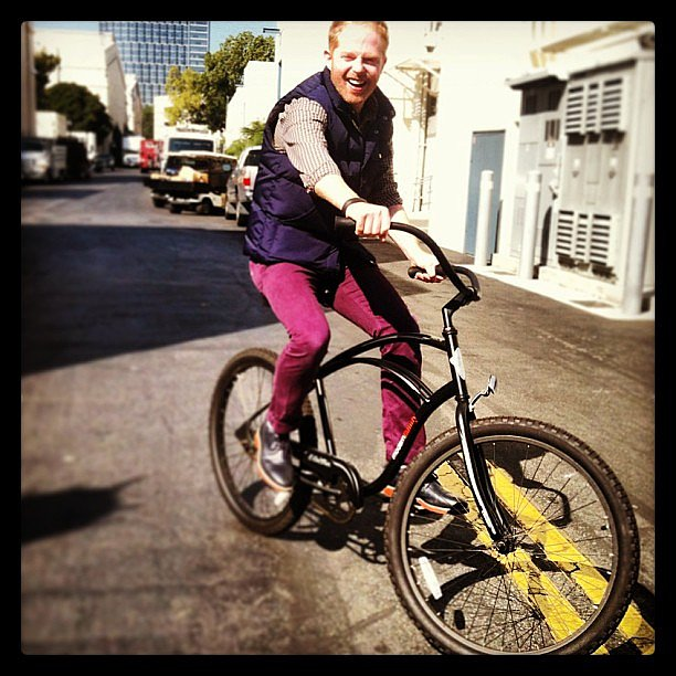 Jesse Tyler Ferguson got caught following Rico Rodriguez on the Modern Family lot. Source: Instagram user starringrico