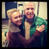 Hayden Panettiere palled around with Henry Winkler, aka The Fonz. Source: Twitter user haydenpanettiere