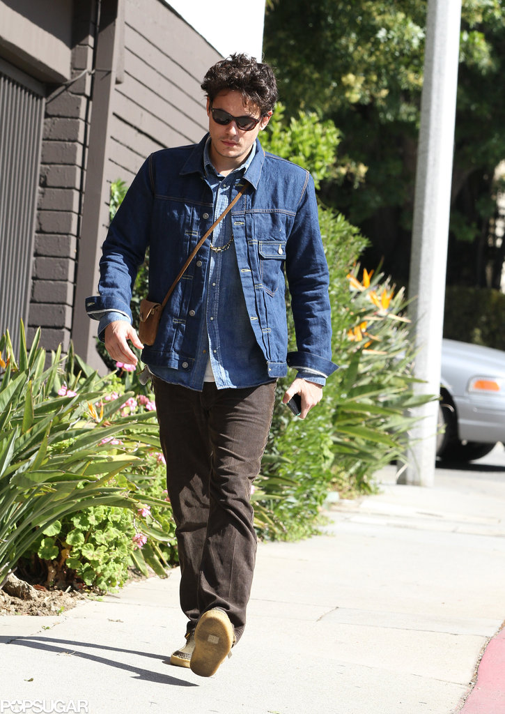John Mayer took a walk in Beverly Hills.
