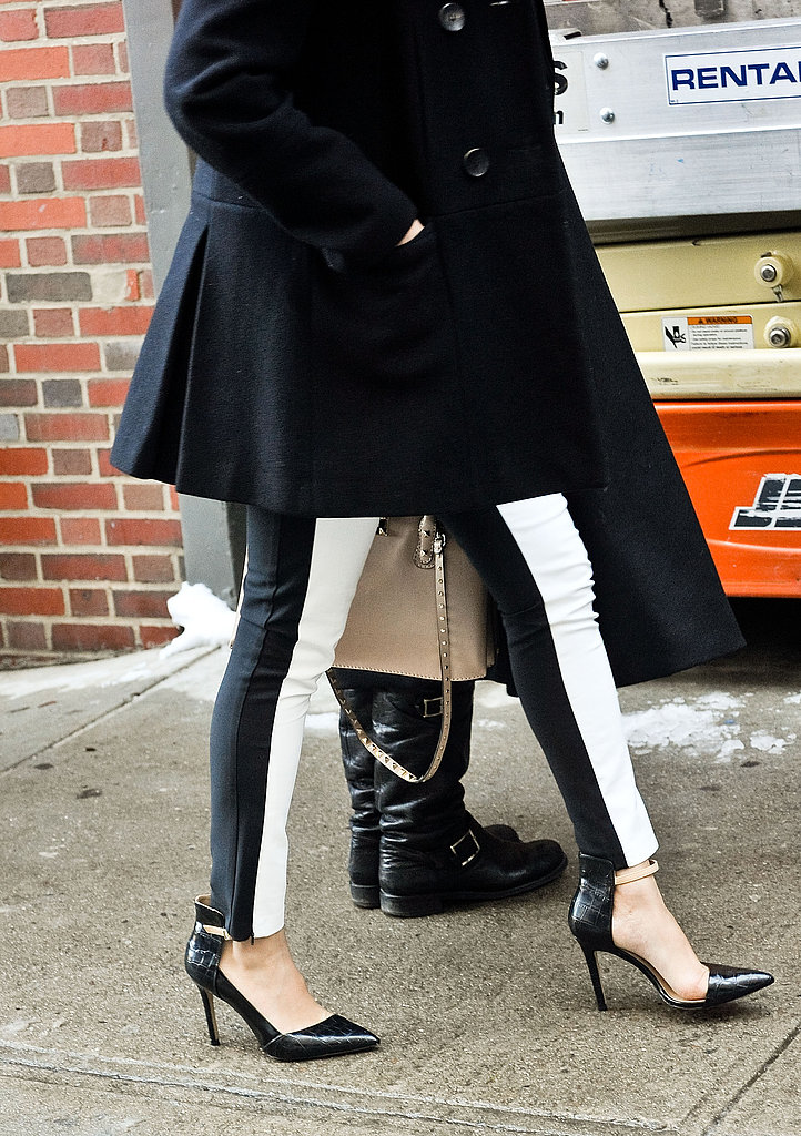 These minimalist ankle-straps were the ideal finishers for a pair of streamlined striped jeans.