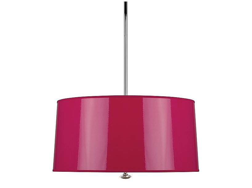 Lighting won't be the only thing that brightens up a room when you hang this fuchsia pendant ($370, originally $530) in your home.