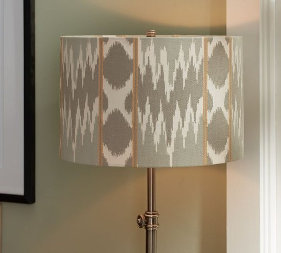 The stitched pattern on this ikat lampshade ($54-$69, originally $69-$89) adds a touch of texture and is meant to fit with a variety of lamp bases.