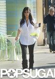Kim Kardashian picked up a frozen yogurt at Pinkberry in LA.