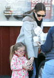 Jennfier Garner took Seraphina out for breakfast in Brentwood.
