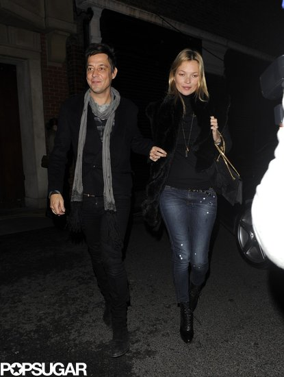 Kate Moss and Jamie Hince stepped out in London on Valentine's Day.