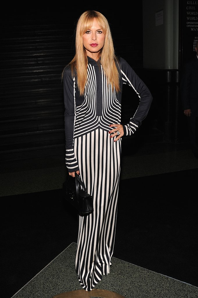 Rachel Zoe wore stripes to the Marc Jacobs show on Thursday.