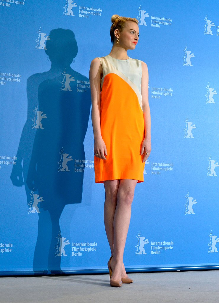 Emma Stone wore Stella McCartney at The Croods photocall in Berlin.