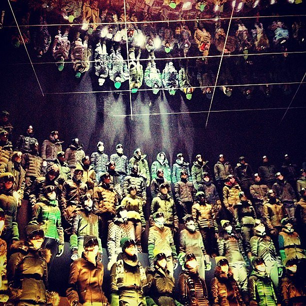 Visual stimulation overload at Moncler.