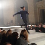 Alexander Wang jumped out at the end of his Fall '13 show.