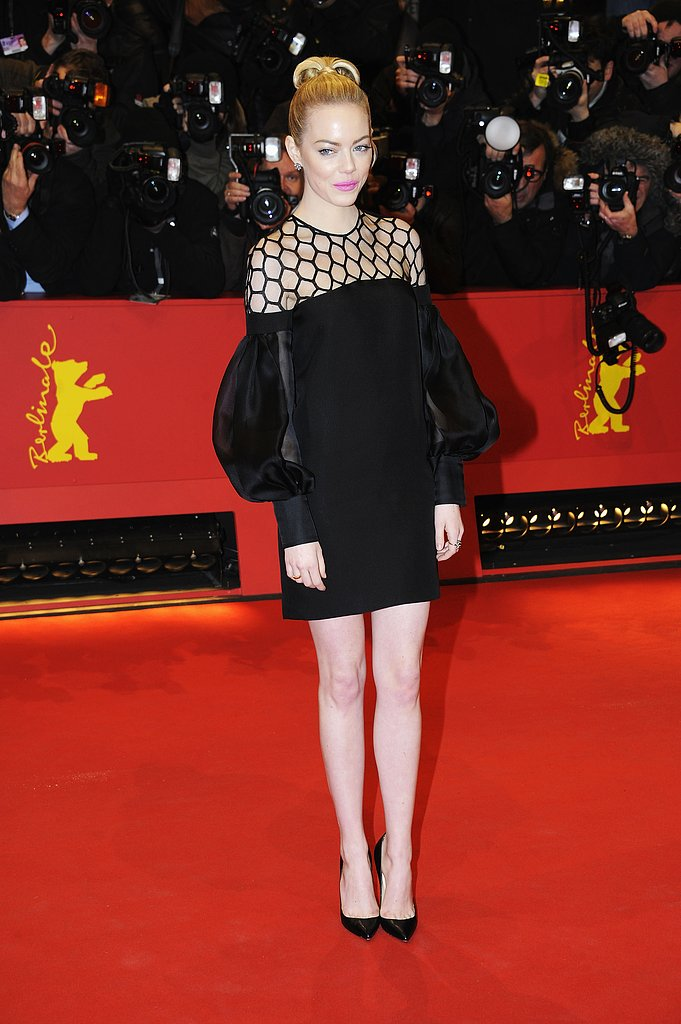 Emma Stone furthered her red-carpet darling status in this bold Gucci LBD at the premiere of The Croods at the Berlin Film Festival.