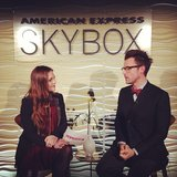 Brad Goreski stopped by to chat with us in the American Express SkyBox.