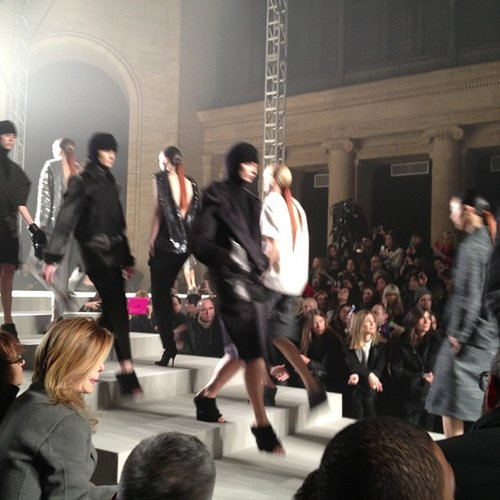 The finale at Alexander Wang.