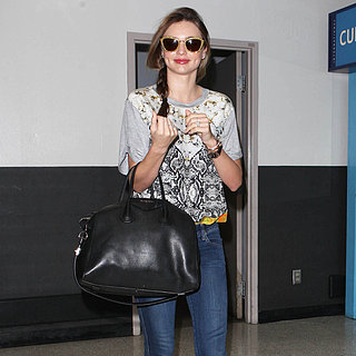 Miranda Kerr Touches Down in LAX
