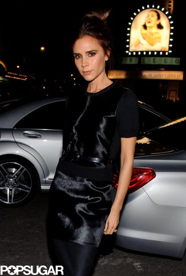 Victoria Beckham posed outside of a prize dinner in London.