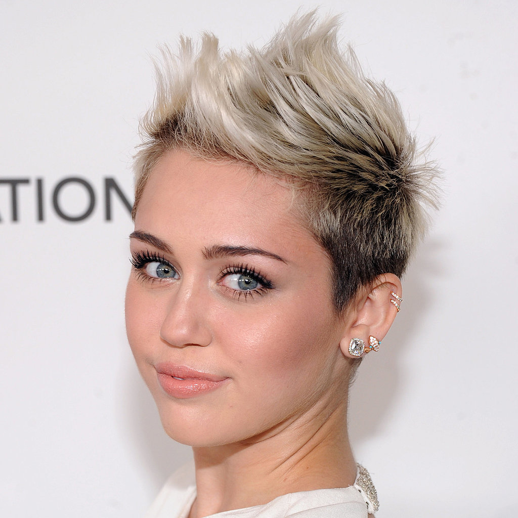 Miley Cyrus Oscars Party 2013 Hair