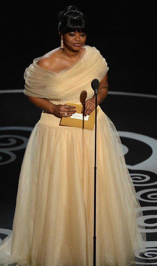Octavia Spencer presented an award at the Oscars.