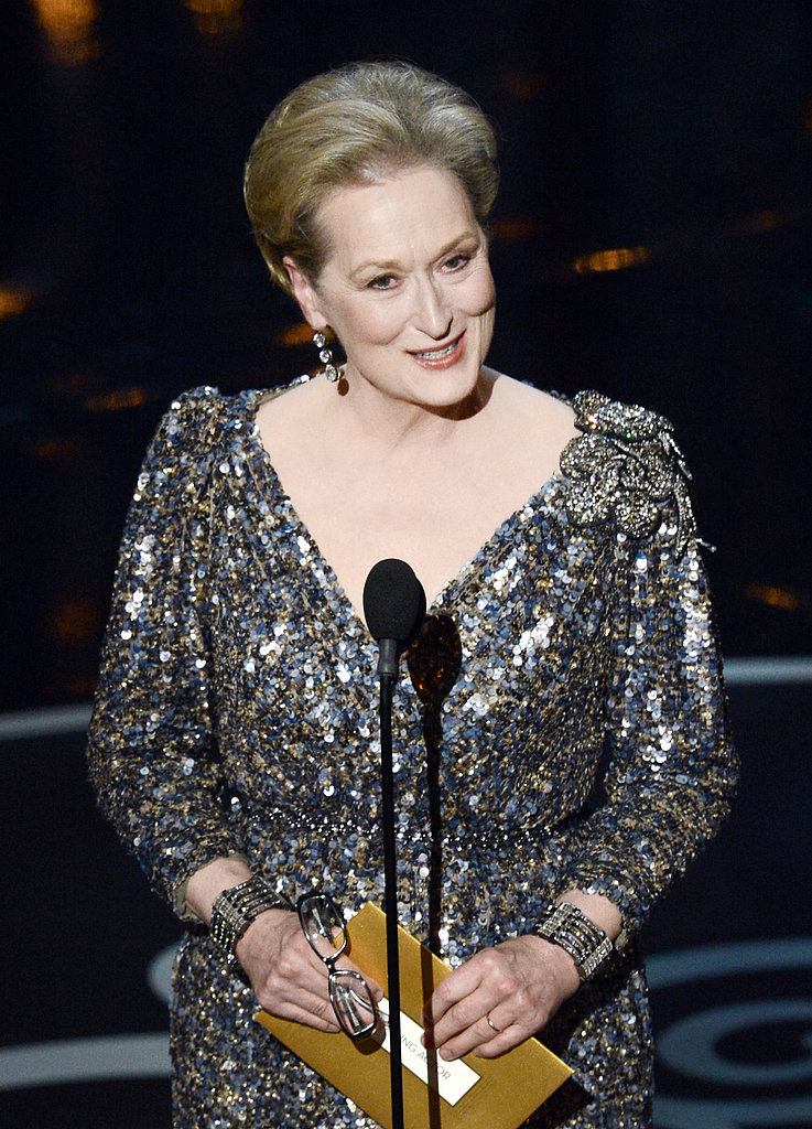 Meryl Streep presented at the 2013 Oscars.