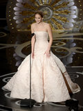 Jennifer Lawrence took the stage at the 2013 Oscars to present.