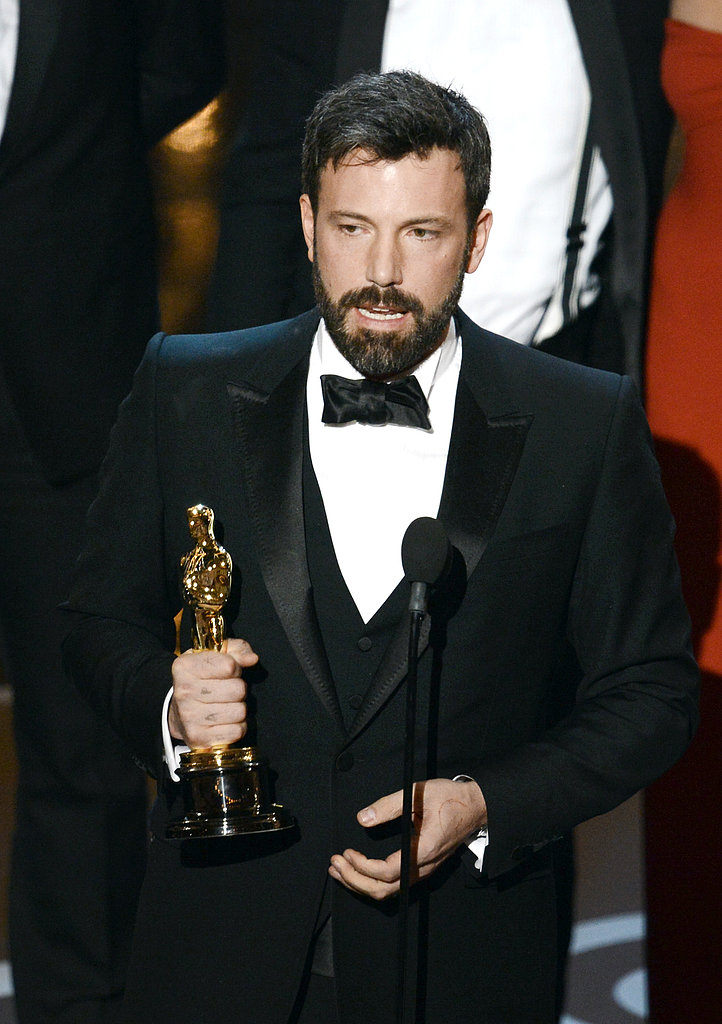 Ben Affleck accepted the award for best picture at the 2013 Oscars.