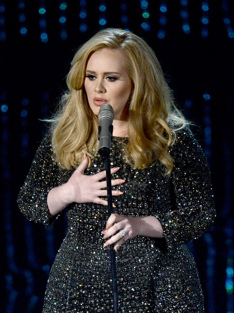 "Adele performed ""Skyfall"" at the 2013 Oscars."