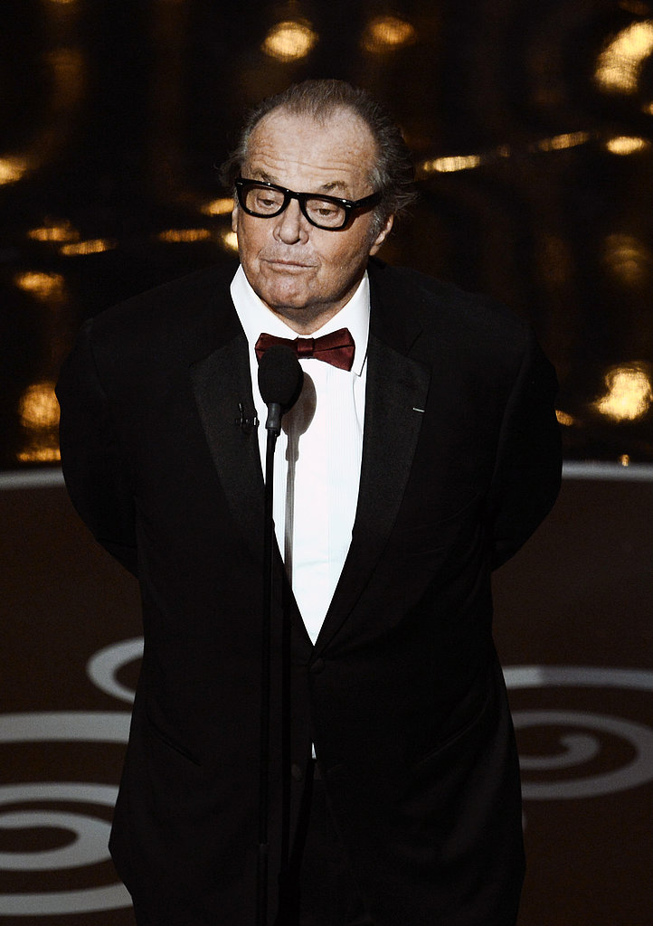 Jack Nicholson presented at the 2013 Oscars.