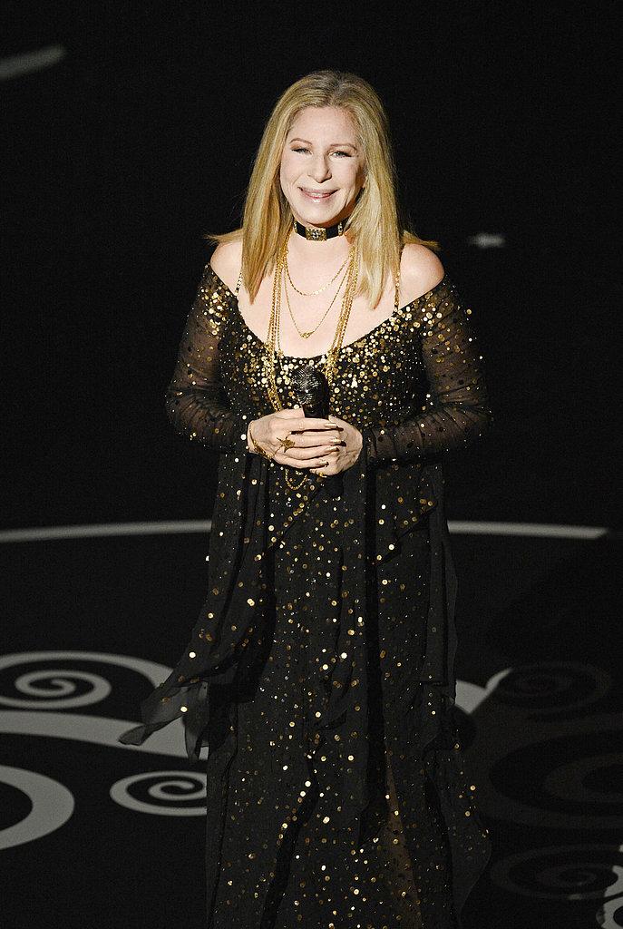 Barbra Streisand sang at the 2013 Oscars.
