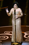 Shirley Bassey sang during a Bond tribute.