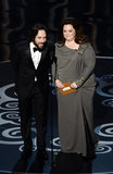 Melissa McCarthy and Paul Rudd presented an award together at the 2013 Oscars.