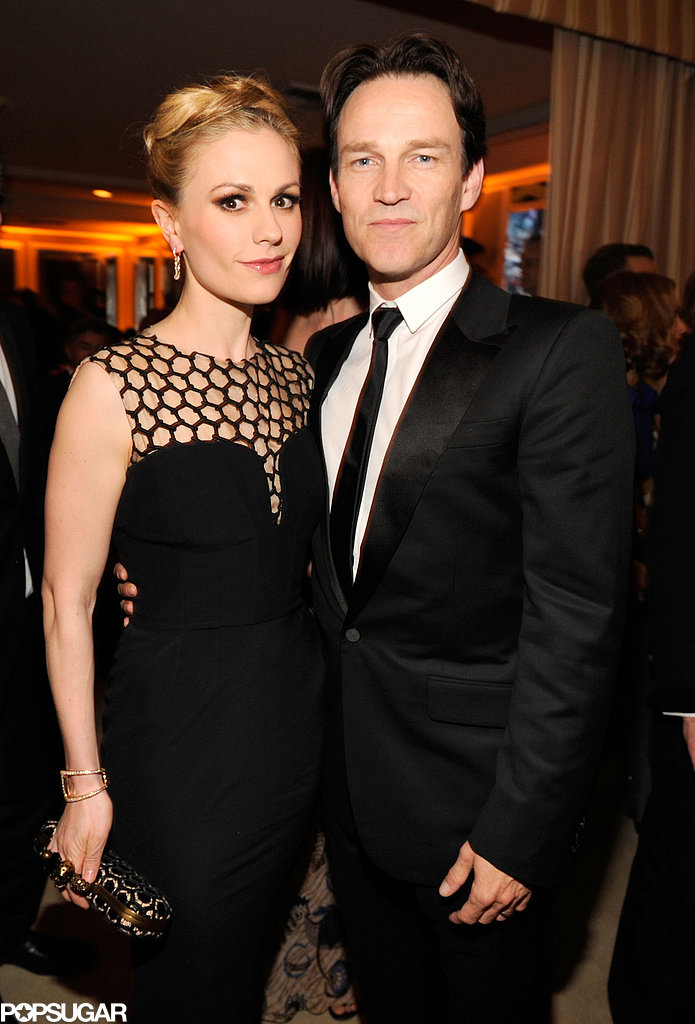 Anna Paquin and Stephen Moyer both donned black for the special Oscars after party in Hollywood on Sunday.