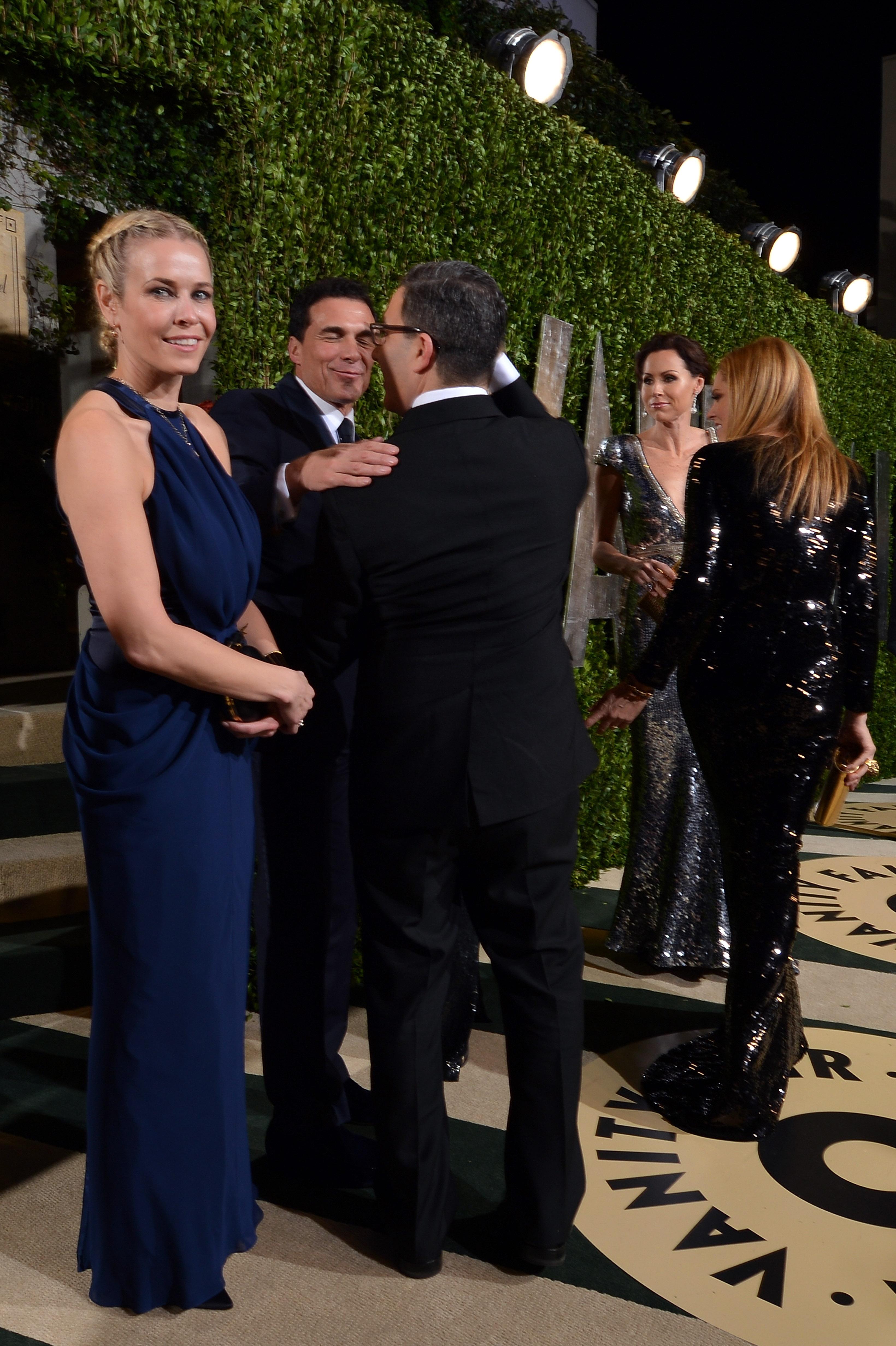 Chelsea Handler arrived at the Vanity Fair Oscar party on Sunday night.