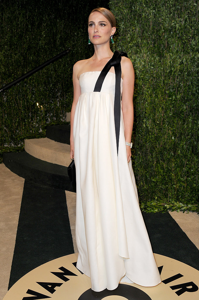Natalie Portman posed at the Vanity Fair Oscars bash.