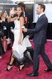 Zoe Saldana on the red carpet at the Oscars 2013.