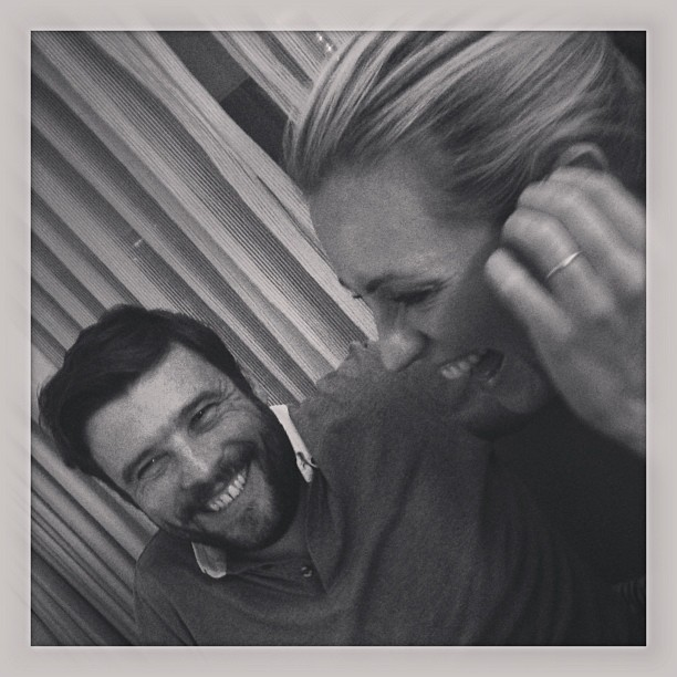 Cat Deeley cracked up while watching the Oscars. Source: Instagram user catdeeley