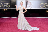 Amanda Seyfried donned an Alexander McQueen gown for the Oscars.
