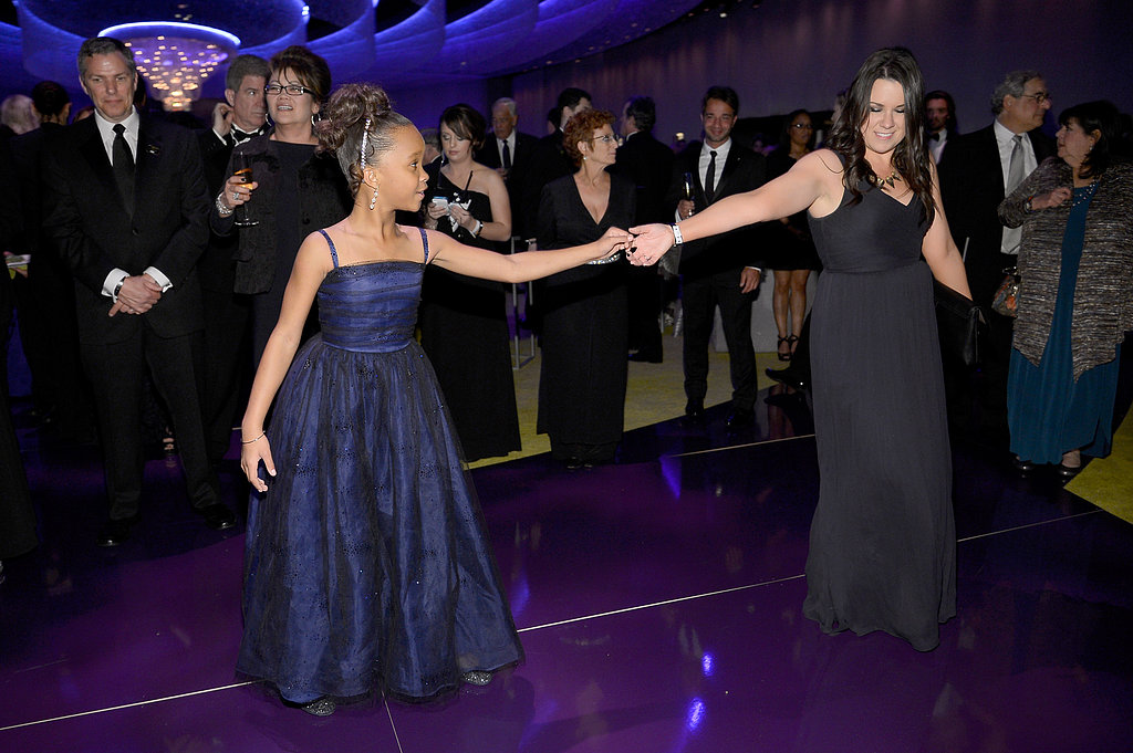 Quvenzhané Wallis danced it up at the Governors Ball.