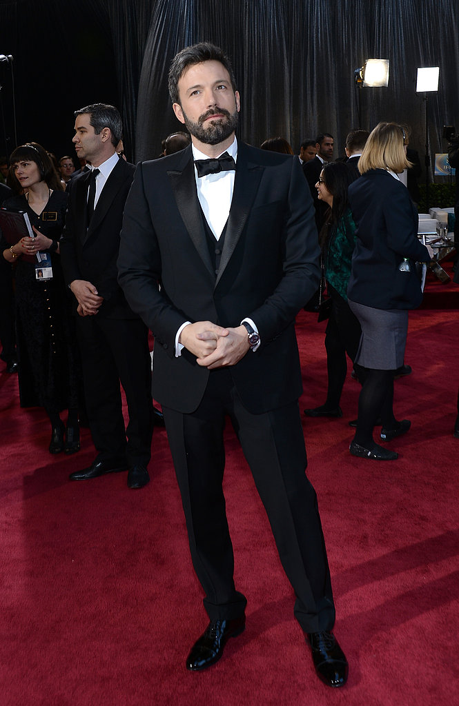 Ben Affleck showed off his beard at the Oscars.